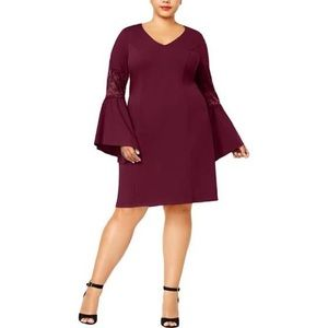 LOVE SQUARED TRENDY PLUS SIZE BELL SLEEVE DRESS